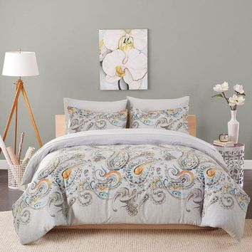 Floral duvet cover set skin care fabric bedding set king/queen/twin/single/double size bed set