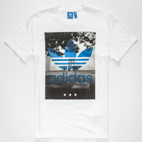 Adidas Originals Court Trefoil Mens T-Shirt White  In Sizes