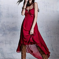 Free People Womens Blue Moon Dress