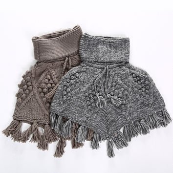 Winter Pullover Thicken Handcrafts Knit Scarf [9042035588]