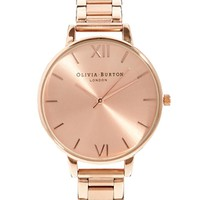 Olivia Burton Big Dial Rose Gold Bracelet Watch - Rose gold