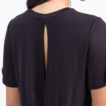 Twist Back Cropped Tee