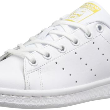 adidas Performance Stan Smith J Tennis Shoe (Big Kid) White/White/Metallic/Gold Big Ki
