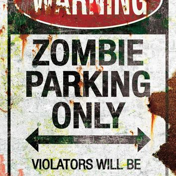 Metal Sign-zombie Parking haunted Attraction Props