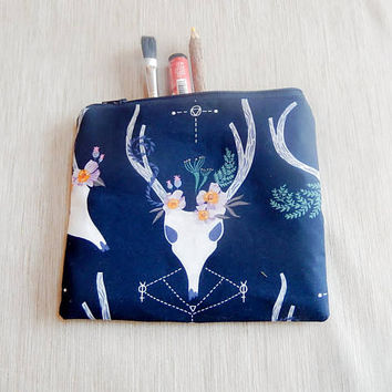 Pencil Case/ Make Up Bag/ Gift for her/ Gift for Mom/ Gift for Wife/ Valentines Day Gift/ Coworker Gift/ BFF Gift/ Bridesmaids Gift/ Pouch