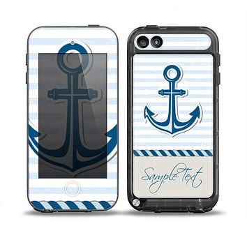 The Blue Highlighted Anchor with Rope Skin for the iPod Touch 5th Generation frē LifeProof Case