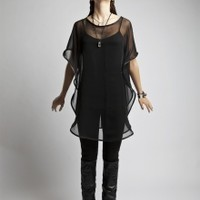 Chiffon and Leather Gill Tunic | NOT JUST A LABEL