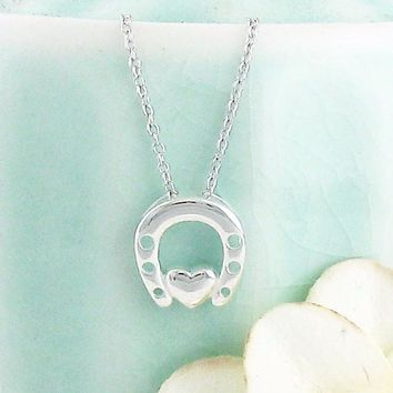 Love & Luck Horseshoe Necklace in Sterling Silver
