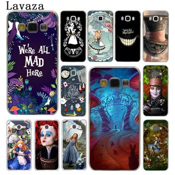 Lavaza Alice in Wonderland cat Hard Phone Cover for Samsung Galaxy J7 J1 J2 J3 J5 2015 2016 2017 Prime Coque Shell Case
