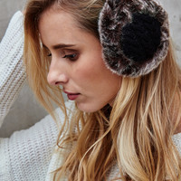 Cable Knit Faux Fur Ear Muffs