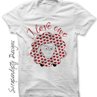 Iron on Valentine Shirt PDF - I Love Ewe Iron on Transfer / Boys Valentines Day Outfit / Baby Valentines Clothes / Toddler Clothing IT508-P