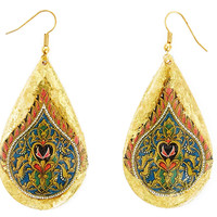 Luxor Safari Teardrop Earrings, Drops Earrings