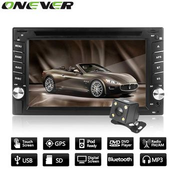 "Onever 6.2"" GPS Navigation HD 2DIN Bluetooth Car Stereo DVD Radio Audio Player Touch Screen USB SD Parking Camera Europe Map"