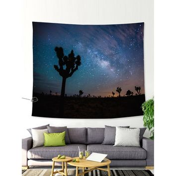 Star & Tree Print Tapestry