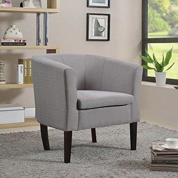 New Century® Simon Linon Sofa Club Chair Linen, Gray
