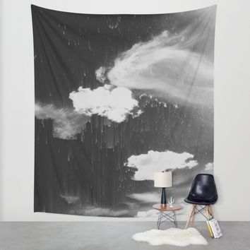 Cloudy Daze Wall Tapestry by Ducky B
