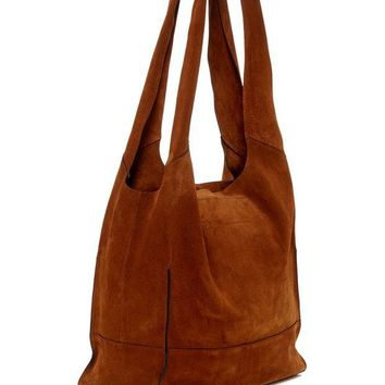 Rag & Bone | Walker Suede & Leather Trimmed Shopper Tote