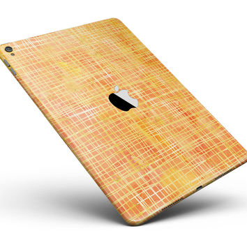 """Orange and Yellow Watercolor Strings Full Body Skin for the iPad Pro (12.9"""" or 9.7"""" available)"""