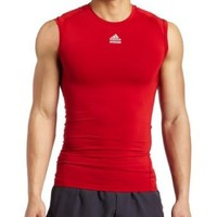 Amazon.com: adidas Men's Techfit Cut and Sewn Sleeveless Top (Universe Red, X-Large): Clothing