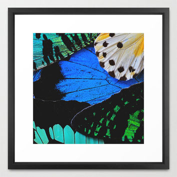 Butterfly Wings I - Fine Art Print - Butterfly Photography - Nature Decor - Photography - Wall Art - Rustic Decor - Blue Butterfly