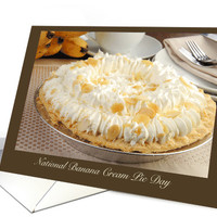 Enjoy National Banana Cream Pie Day March 2nd with Recipe card