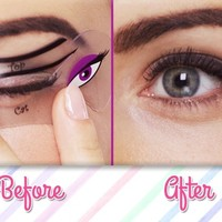 Cat Eye Makeup & Smokey Eye Makeup Stencils | Beth Bender Beauty