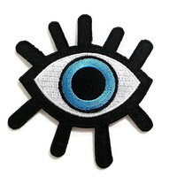 Big Eye New Sew on / Iron On Patch Embroidered Applique Size 7.6cm.x8.4cm.