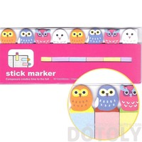 Colorful Owl Bird Shaped Sticky Memo Post-it Index Bookmark Tabs   Animal Themed Stationery