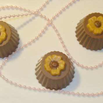 Peanut butter chocolate candy, Chocolate truffles, Wedding Dessert or cake table, Free shipping, Wedding Favors, Bridal party, Baby showers