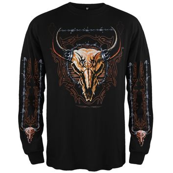 Buffalo Skull Long Sleeve Shirt