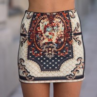 Baroque Mini Skirt