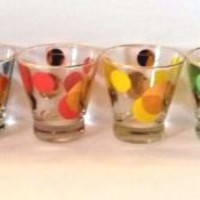Vintage Russel Wright Eclipse Glasses Set of 6 Rocks Cocktail Glasses