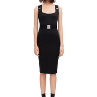 VICTORIA BECKHAM | ICON SCOOP NECK FITTED DRESS