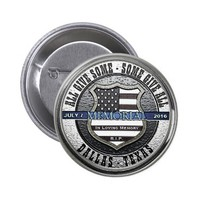 Dallas Police Thin Blue Line Memorial Button