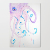 Octopus Stretched Canvas by Kerrie Cook