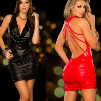 LEATHER (NOT) CLUB DRESS