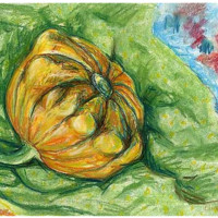 Little Yellow Squash 2010 Painting, 42 x 30 cm