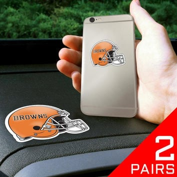 Cleveland Browns NFL Get a Grip Cell Phone Grip Accessory (2 Piece Set)