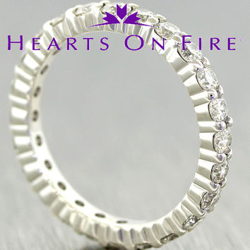 NWT Hearts On Fire Multiplicity 18k White Gold Diamond Eternity Band Ring $7875
