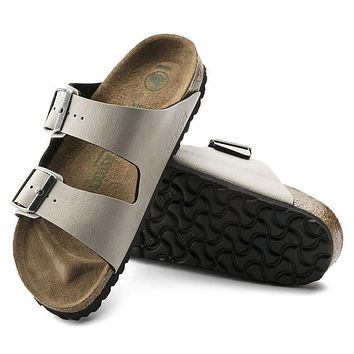 Best Online Sale Birkenstock Arizona Birko Flor Pull Up Stone 1009980/1009981 Sandals