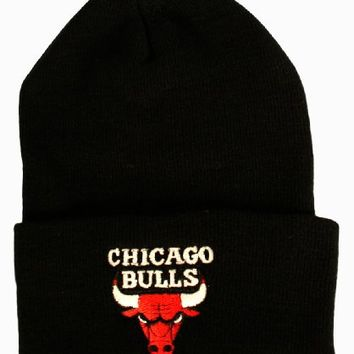 Vintage High-Bulk Chicago Bulls Retro Black Cuff Beanie