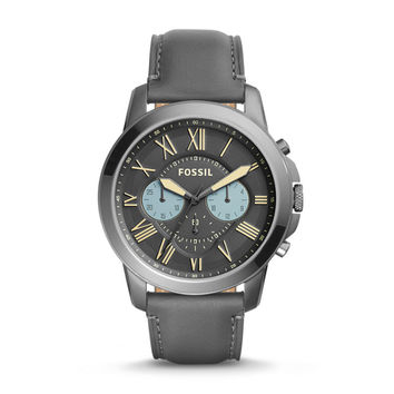 Grant Chronograph Gray Leather Watch - $135.00