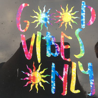 Good Vibes Only Tie Dye Macbook Decal Positive Motivational Sticker