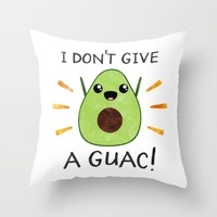 I don't give a guac! Throw Pillow by Elisabeth Fredriksson | Society6