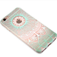 Newest Customized Hollow Lace Case Cover for iPhone 7 7 Plus & iPhone 5s se & iPhone 6 6s Plus + Gift Box-463