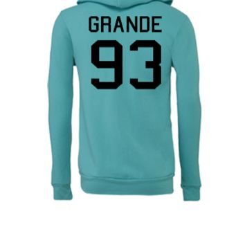 Ariana Grande 93 black - Unisex Full-Zip Hooded Sweatshirt