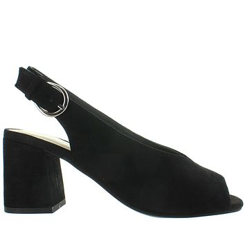 Seychelles Playwright - Black Suede Sling-Back Sandal