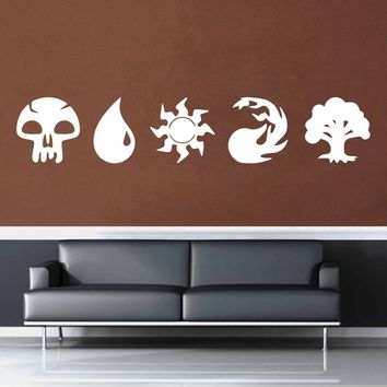 Magic the Gathering Mana Set - Wall Decal$8.95