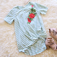 Timber Rose Tee in Sage