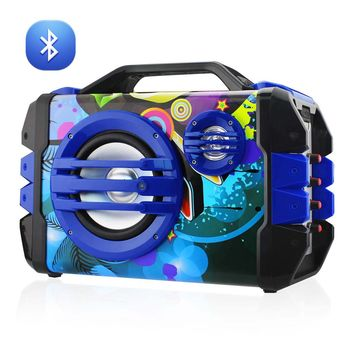 Universal Boombox Bluetooth Mono Speaker In Blue